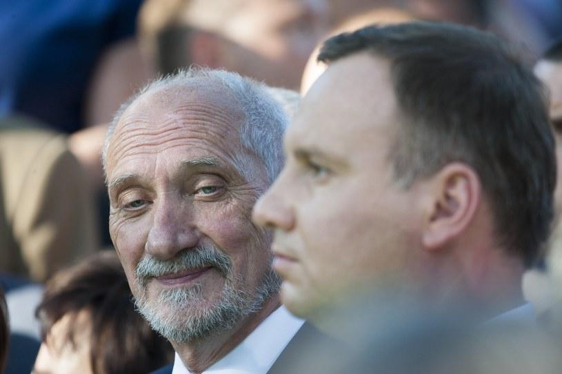 Antoni Macierewicz i Andrzej Duda /Wojciech Stróżyk /Reporter