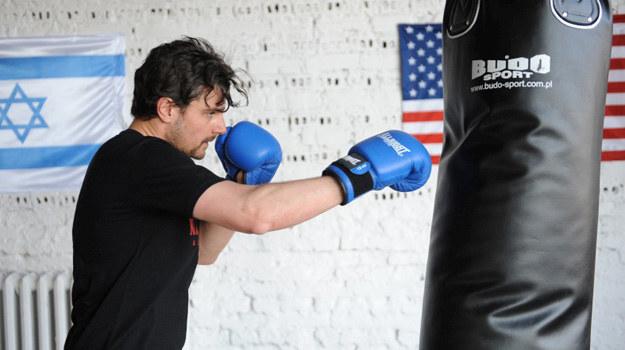 Antoni Pawlicki podczas treningu. /Agencja W. Impact