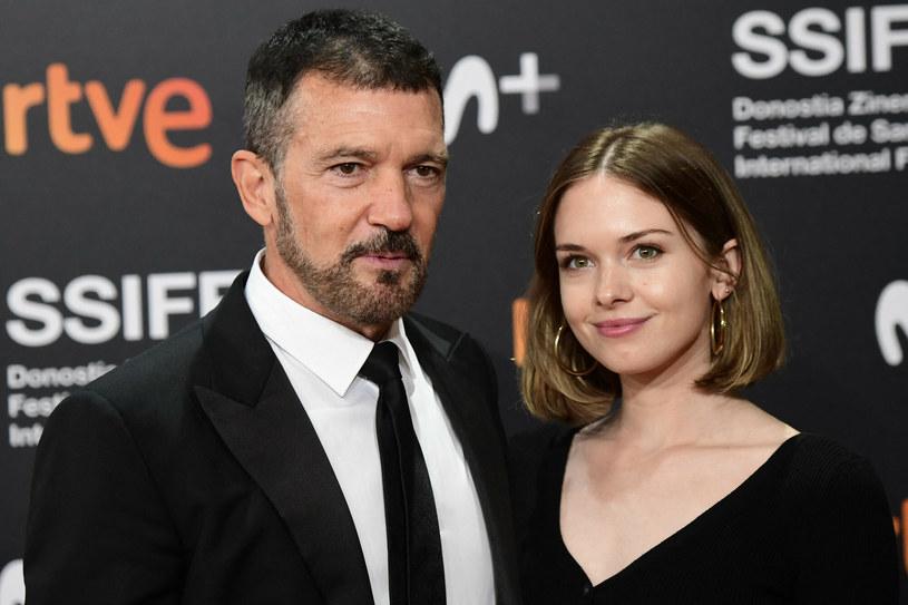 Antonio Banderas z córką, Stellą del Carmen podczas 69. festiwalu filmowego w San Sebastian /Andrews Archie/ABACA /East News