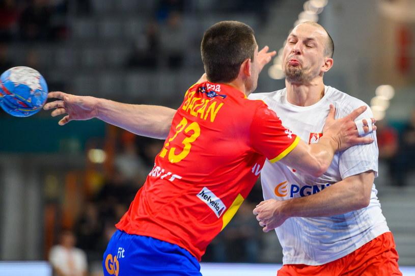 Antonio Bazan (z lewej) i Michał Szyba podczas meczu Polska - Hiszpania w Tarnowie /Paweł Topolski /PAP