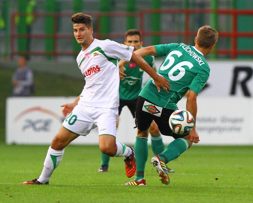 Antonio Colak (z lewej) podczas meczu z PGE GKS-em Bełchatów /Grzegorz Michałowski /PAP