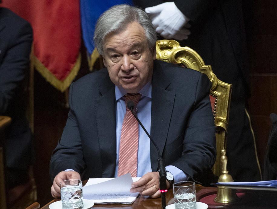 Antonio Guterres /CLAUDIO PERI /PAP/EPA