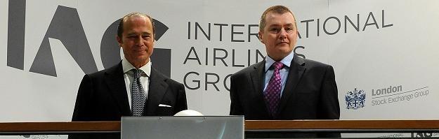 Antonio Vazquez, (L), dyrektor IAG i Willie Walsh, prezes IAG /AFP