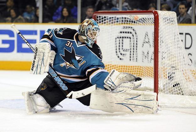 Antti Niemi z San Jose Sharks. /AFP