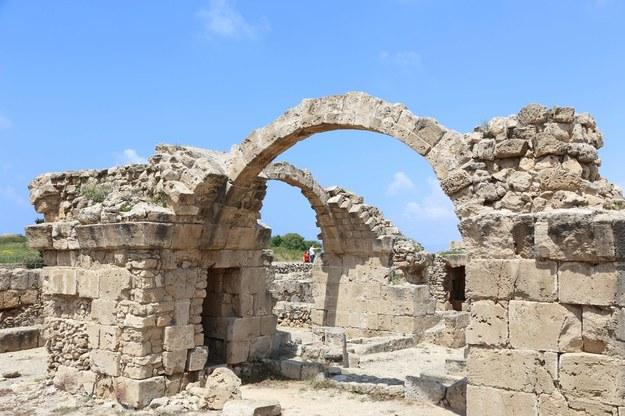 Antyczna fortyfikacja w starożytnym Pafos na Cyprze /Zhang Baoping /PAP/EPA
