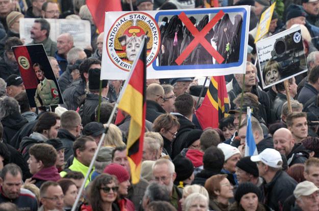 Antyislamska manifestacja w Dreźnie /AFP