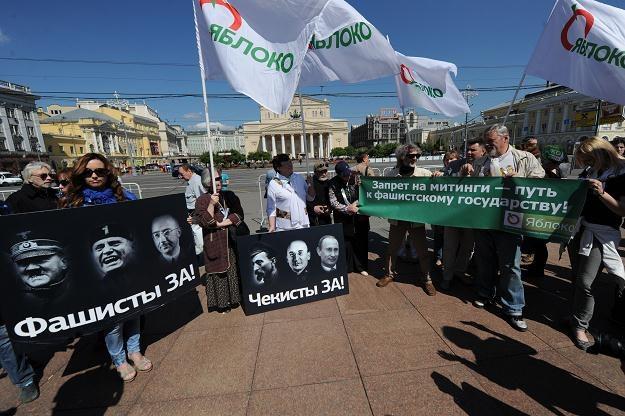 Antyputinowski protest w Moskwie /AFP