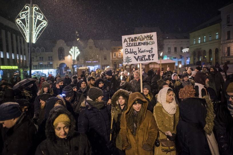 Antyrządowa demonstracja na Węgrzech /TAMAS SOKI /PAP/EPA