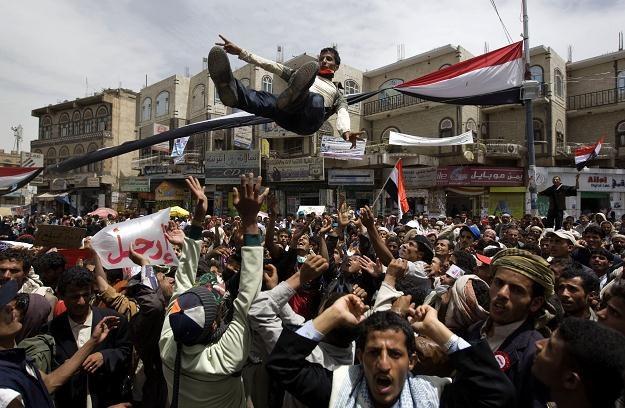 Antyrządowe demonstracje w Sanie /AFP