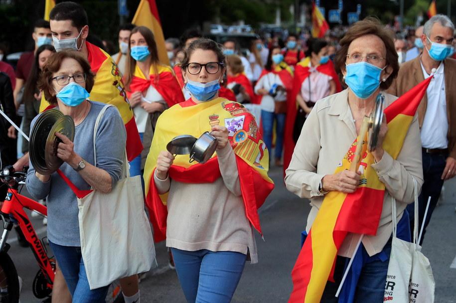 Antyrządowe protesty w Hiszpanii /FERNANDO ALVARADO /PAP/EPA