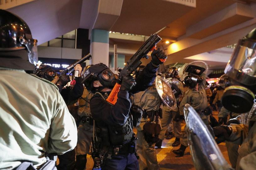 Antyrządowe protesty w Hongkongu trwają od 14 tygodni /JEON HEON-KYUN /PAP/EPA
