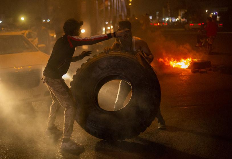 Antyrządowe protesty w Iraku, zdjęcie z 25 lutego 2020 /HUSSEIN FALEH / AFP /AFP
