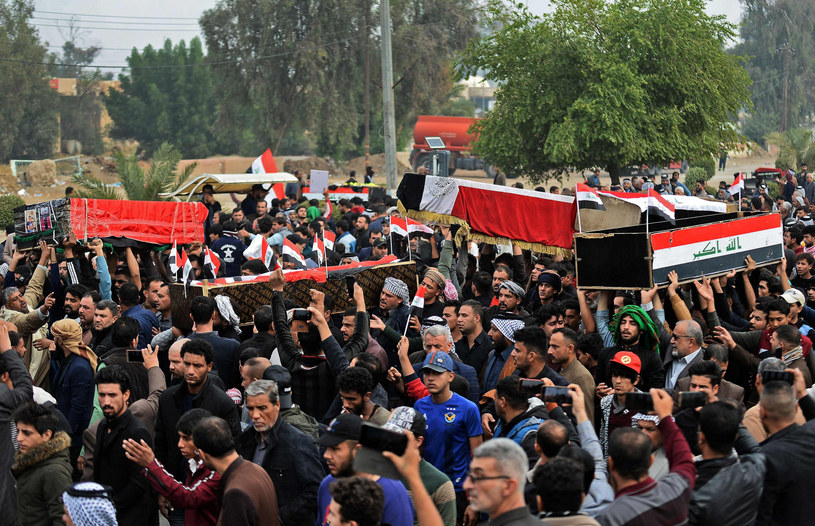 Antyrządowe protesty w Iraku /HAIDAR HAMDANI/AFP/ /East News