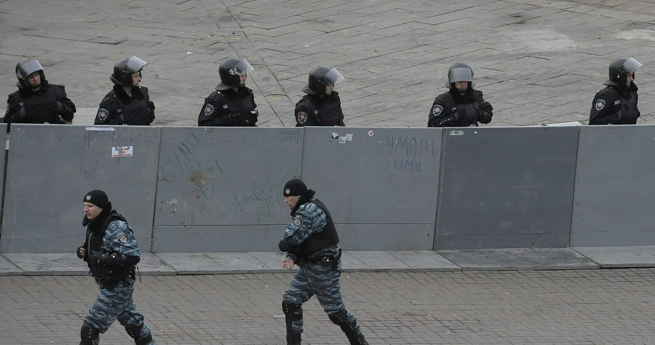 Antyrządowy protest na Ukrainie rozpędzony