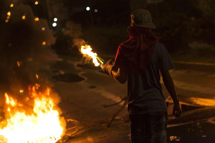 Antyrządowy protest w Barquisimeto w północno-wschodniej Wenezueli /PASQUALE GIORGIO /PAP/EPA