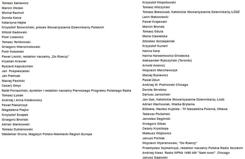 Apel dziennikarzy został opublikowany na stronie niezalezna.pl /Niezalezna.pl /