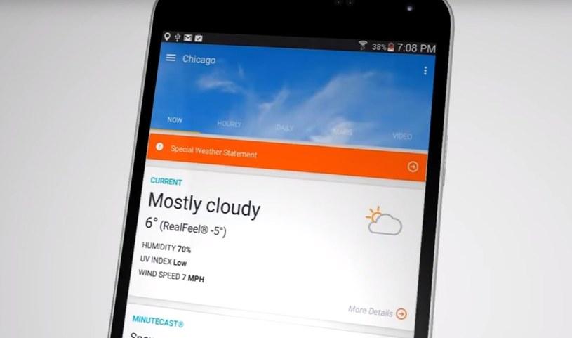 Aplikacja AccuWeather jest dostępna na Androida i iOS /YouTube /Internet