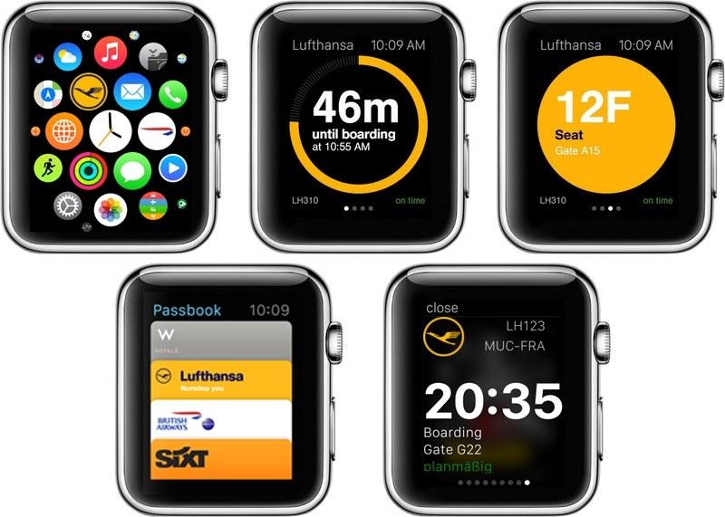 Aplikacja Lufthansy dla Apple Watch /materiały prasowe