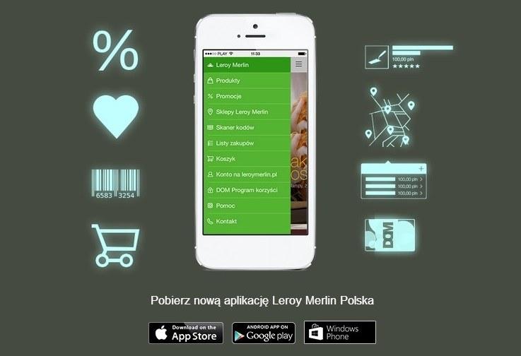 Aplikacja mobilna Leroy Merlin Polska to źródło cennych informacji dla każdego potencjalnego klienta /materiały prasowe