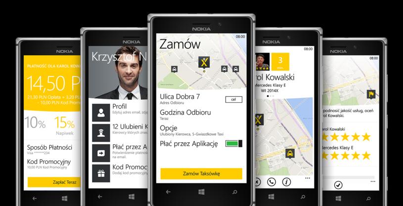 Aplikacja mytaxi już na Windows Phone /materiały prasowe