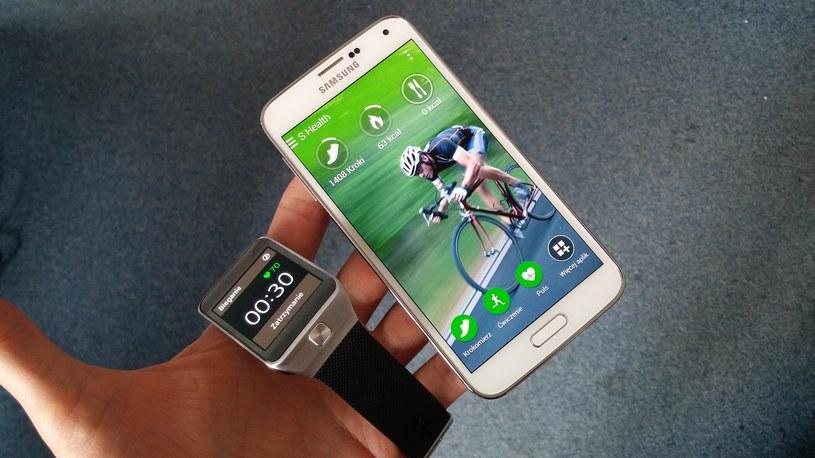 Aplikacja S Health oraz zegarek Gear 2 /INTERIA.PL