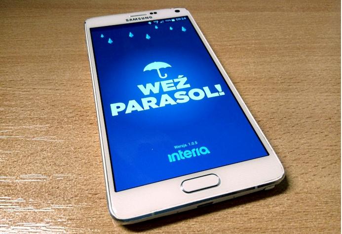 Aplikacja Weź parasol /INTERIA.PL