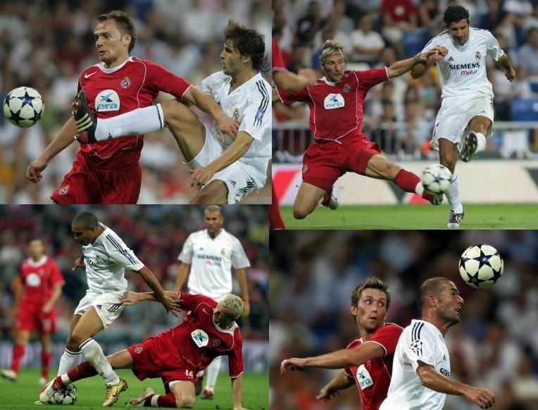 Apogeum Wisły Cupiała to m.in. rywalizacja z Realem: Głowacki vs Morinetes, Stolarczyk vs Figo, Ronaldo vs Kukiełka, Gorawski vs Zidane. /AFP