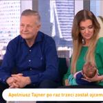 """Apoloniusz Tajner z żoną i synkiem w """"śniadaniówce"""". Jak wygląda ich życie we troje?"""
