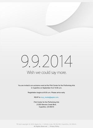 Apple zaprasza na wrześniową konferencję. Data premiery iPhone'a 6 ujawniona