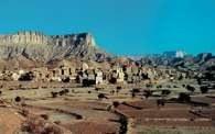 Arabski półwysep, Jemen, miasto na pustyni /Encyklopedia Internautica