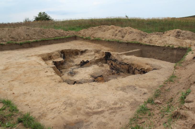 Archeolodzy prowadzą wykopaliska pod Barczewkiem /Piotr Bułakowski /RMF