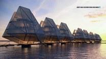 Architekci zaprojektowali pływające domy, które poruszają się wraz z przypływami i odpływami
