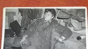 Archiwalne zdjęcie strajkującego górnika