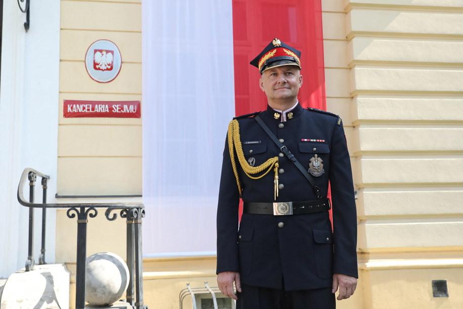 Archwialne zdjęcie byłego Komendanta Straży Marszałkowskiej płk Piotra Rękosiewicza / Tomasz Gzell    /PAP
