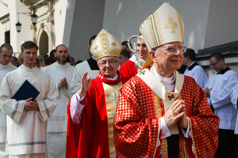 Arcybiskupi Sławoj Leszek Głódź i Marek Jędraszewski /Beata Zawrzel /Reporter