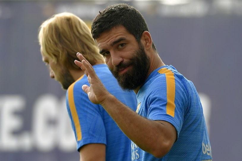 Arda Turan już w barwach Barcelony. /AFP