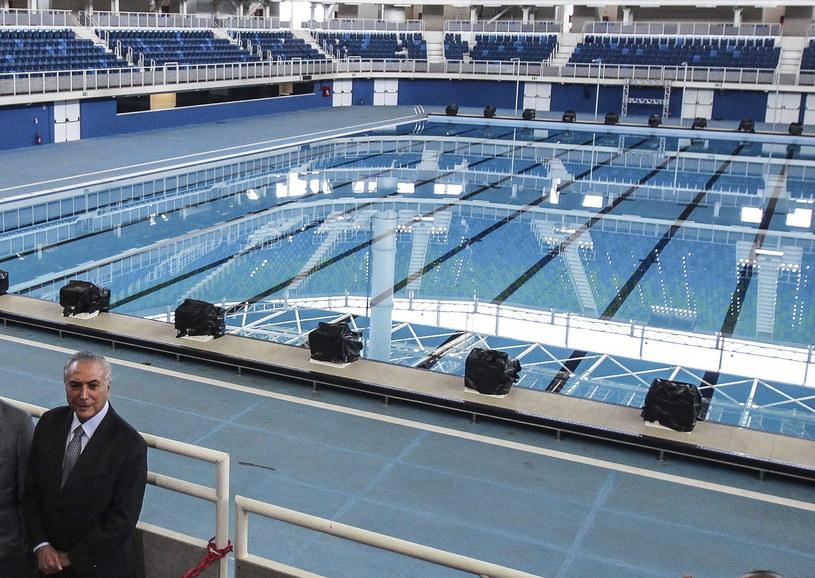 Arena zmagań pływaków i waterpolistów w Rio de Janeiro /PAP/EPA