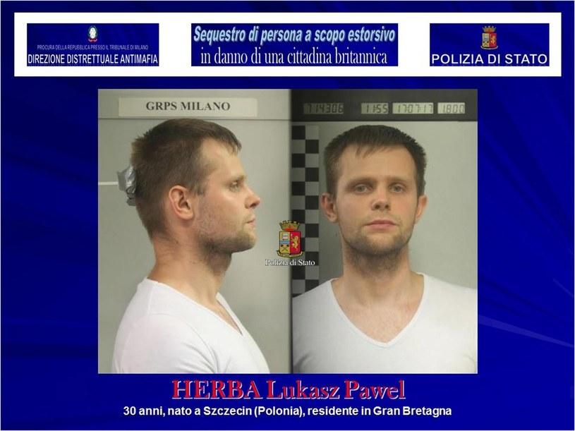Aresztowany mężczyzna /PAP/EPA