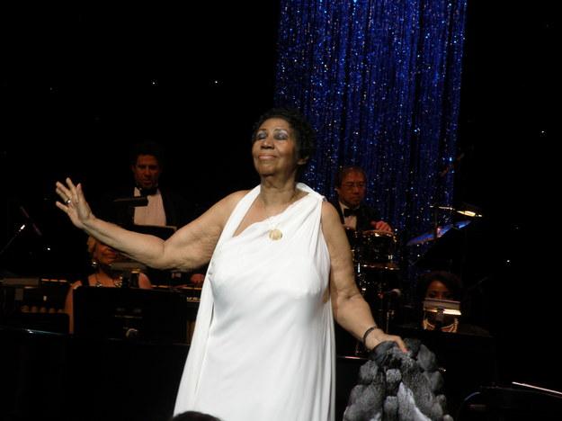 Aretha Franklin w Radio City Music Hall w 2014 roku /Marcin Czarnobilski /