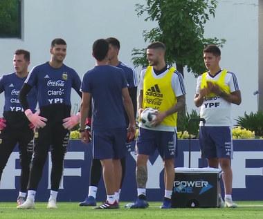 Argentyna trenuje przed starciem z Meksykiem. Wideo