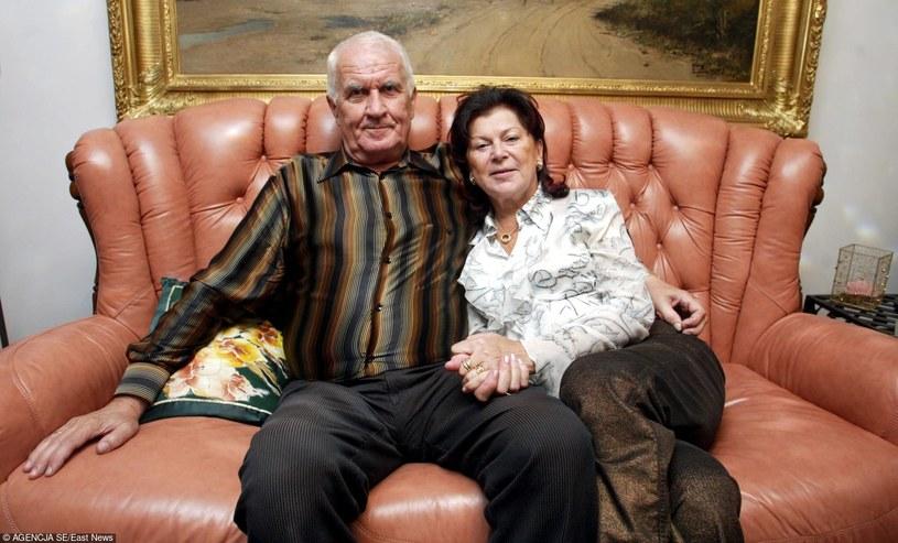 Ariadna Gierek z mężem Tadeuszem Łapińskim /- /East News