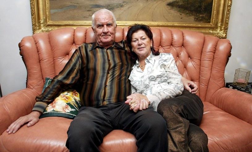Ariadna Gierek z trzecim mężem Tadeuszem Łapińskim /P.Gajek /East News