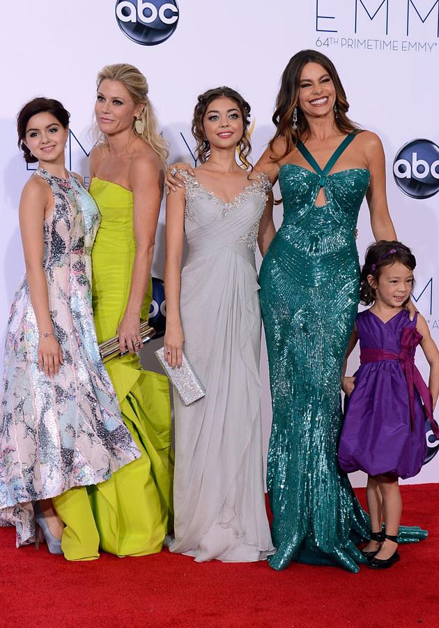 Ariel z innymi aktorkami z serialu na rozdaniu nagród Emmy /Kevork Djansezian /Getty Images