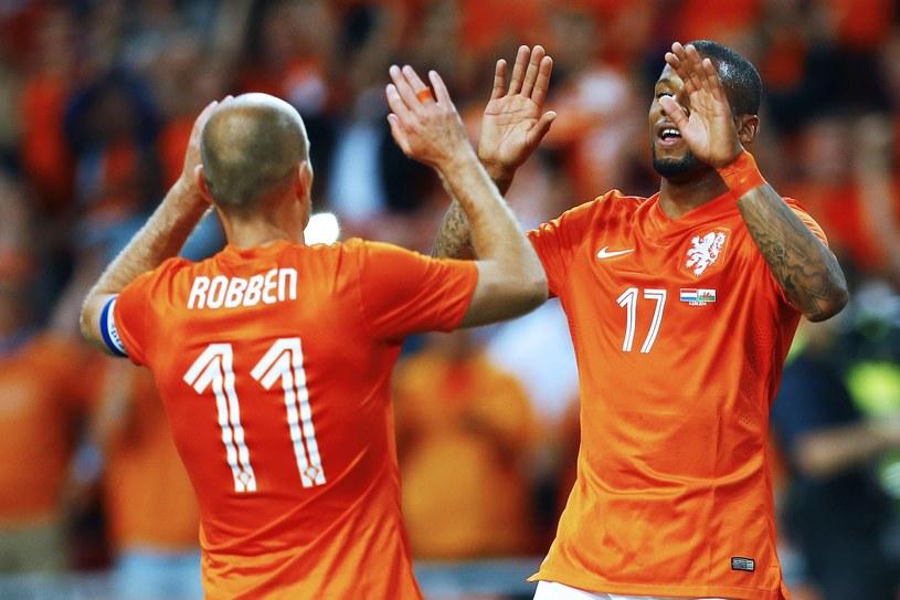 Arjen Robben i Jeremain Lens strzelili po golu w meczu z Walią /AFP