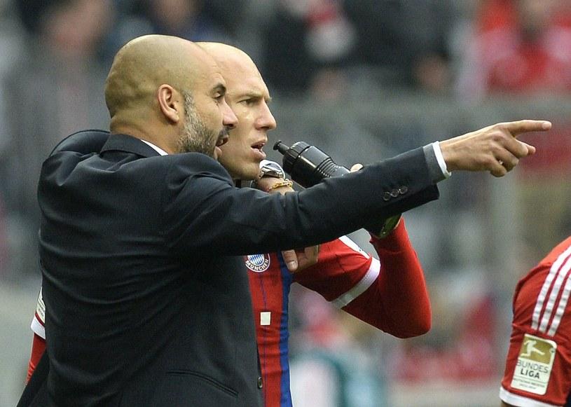 Arjen Robben i Pep Guardiola /AFP