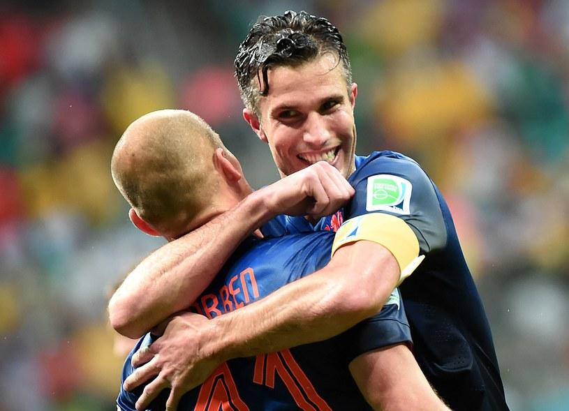 Arjen Robben i Robin van Persie /AFP