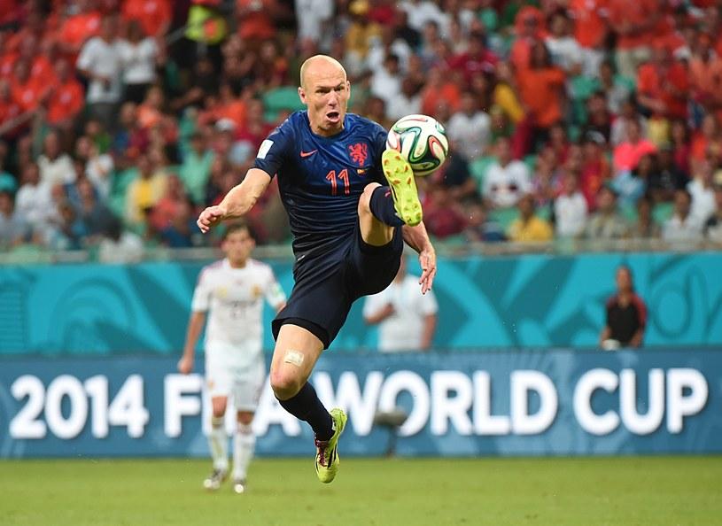 Arjen Robben świetnie spisał się w meczu z Hiszpanią /AFP