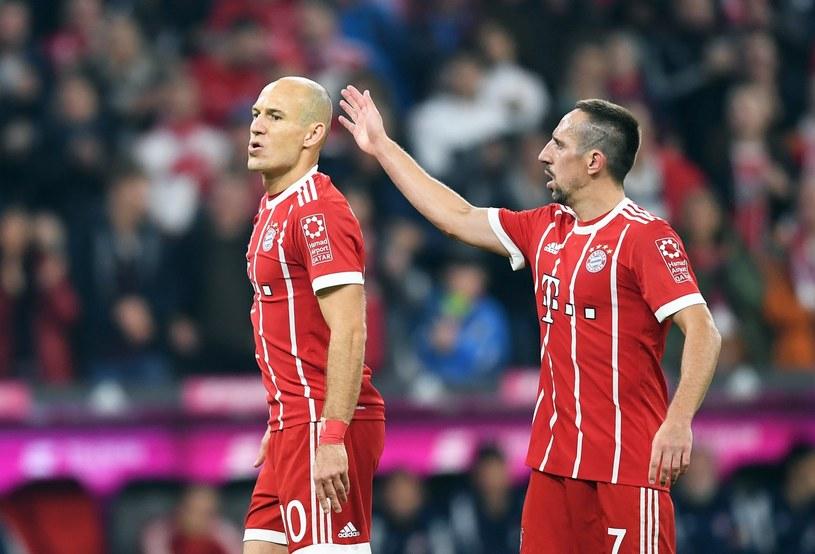 Arjen Robben (z lewej) i Franck Ribery, czyli skrzydła Bayernu /PAP/EPA