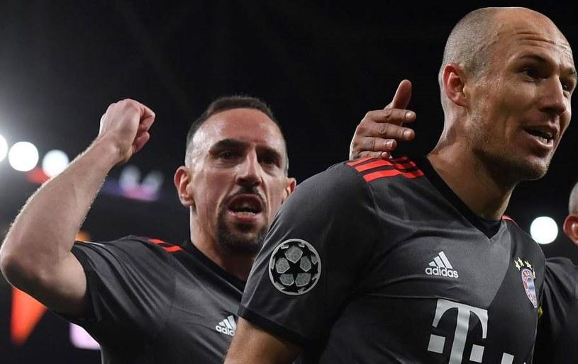 Arjen Robben (z prawej) i Franck Ribery /AFP