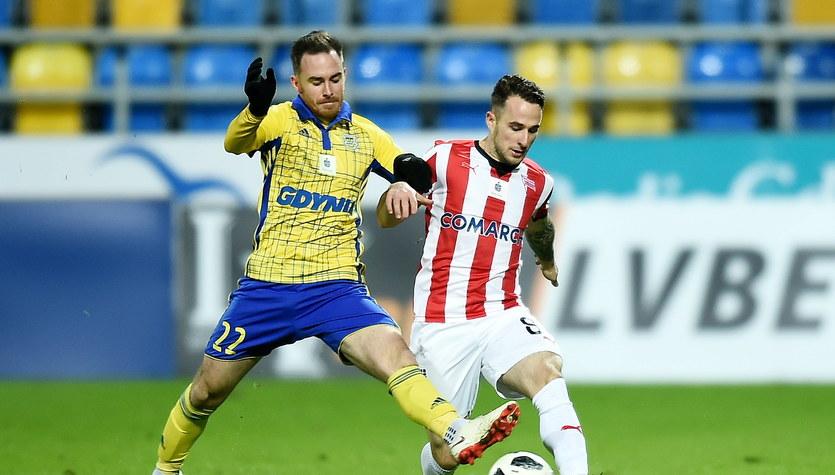 Arka Gdynia - Cracovia 0-3 w 18. kolejce Lotto Ekstraklasy